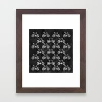 Bicycle Pattern Framed Art Print