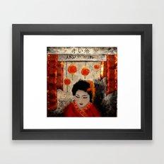 THE RED THREAD Framed Art Print