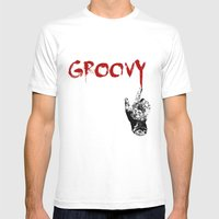 Groovy Mens Fitted Tee White SMALL