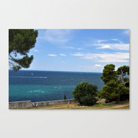 Croatia seaside Canvas Print