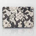 black and white lace- Photograph of vintage lace iPad Case