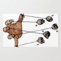 The Five Dancing Skulls Of Doom Rug