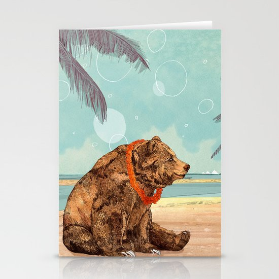 Beach Bear Stationery Card
