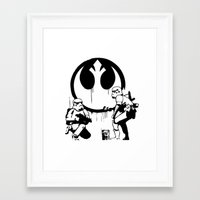 Banksy Troopers Framed Art Print