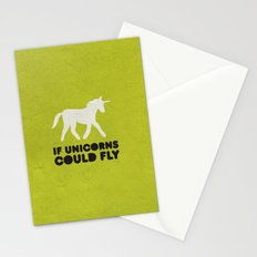 If unicorns could fly. Stationery Cards