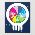 Pinwheel of Death Canvas Print