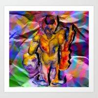 Paper Golem Art Print
