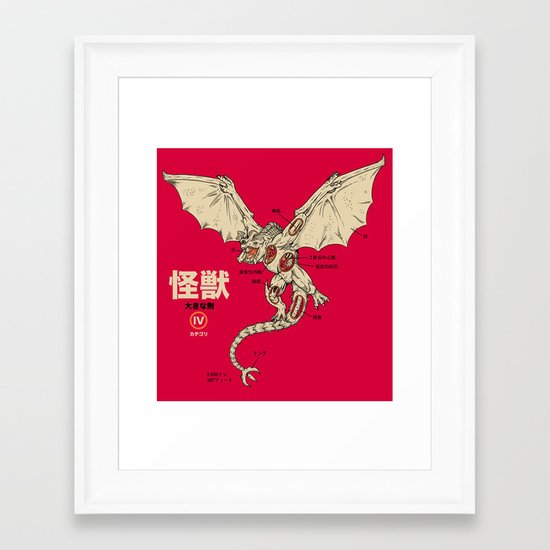 Kaiju Anatomy 2 Framed Art Print