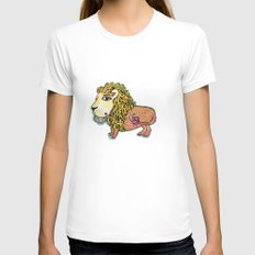 ox MAJESTIC LEO xo Womens Fitted Tee White SMALL