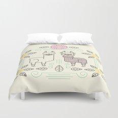 Alpacas Duvet Cover