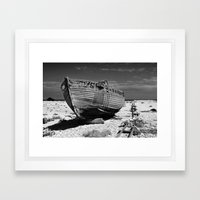 Dungeness Decay Framed Art Print