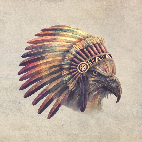 Eagle Chief  Art Print