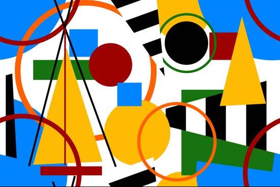 Abstract Art Deco Bermuda Art Print