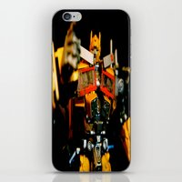 Golden Optimus iPhone & iPod Skin