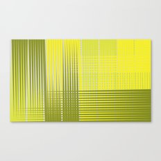 Abstract Yellow Green Canvas Print