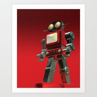 robot Art Prints featuring Robot by David Luscombe