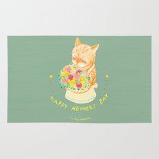 Happy Meowther's Day Rug