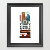 London Layers Framed Art Print