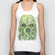 Cthulhu Green Tentacles Unisex Tank Top