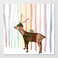Rainbow Forrest Canvas Print
