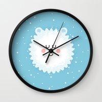 Sleeping Polar Bear Wall Clock