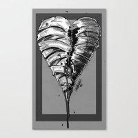 Razor Blade Romance (Black and White Version) Canvas Print
