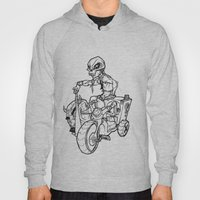 Skull Boy  on a Tricycle  Hoody