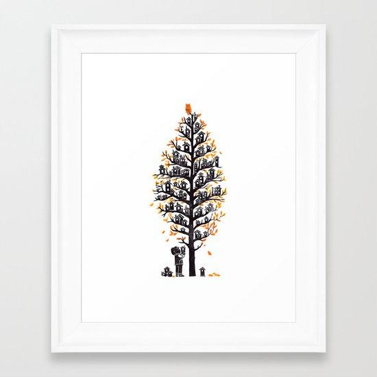 Hoot Lodge Framed Art Print