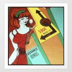 Hot Chick Art Print