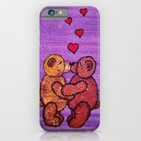 iPhone & iPod Case featuring Bears in love by Lauren's Drawings