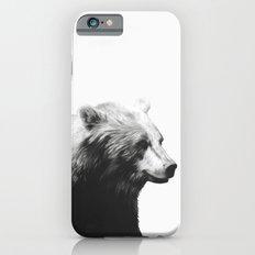 Bear // Calm (Black + White) iPhone 6s Slim Case