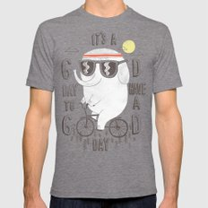 It's a good day to have a good day Mens Fitted Tee Tri-Grey SMALL