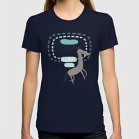 I LOVE RAIN Womens Fitted Tee Navy SMALL