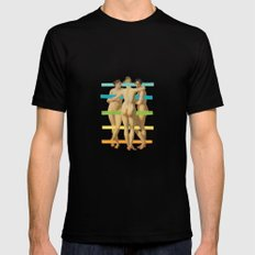 Les Trois Graces Mens Fitted Tee SMALL Black