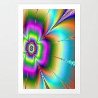Neon Flower Art Print