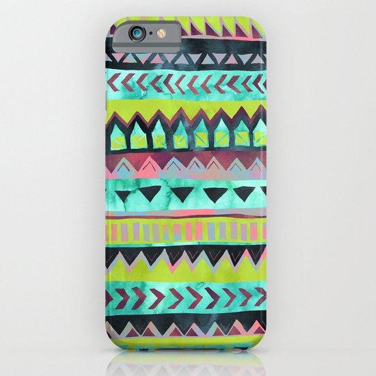 PATTERN {Tribal Stripe - Green} iPhone & iPod Case