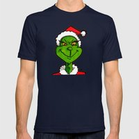 How Grinchy! Mens Fitted Tee Navy SMALL