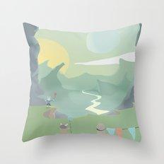 Market Break Throw Pillow