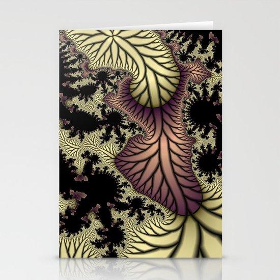 Leaf fractal Stationery Card