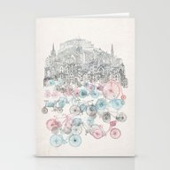 Stationery Cards featuring Old Town Bikes by David Fleck