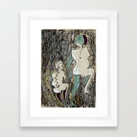 what/and/where Framed Art Print