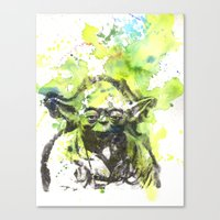 May the Force be with You Yoda Star Wars Canvas Print