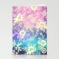 VINTAGE FLOWERS XXVIII - for iphone Stationery Cards