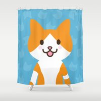 Happy Cat Shower Curtain