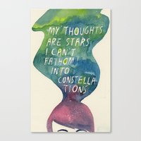 Thoughts Are Constellati… Canvas Print