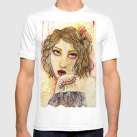 Cecilia And The Centiped… Mens Fitted Tee White SMALL