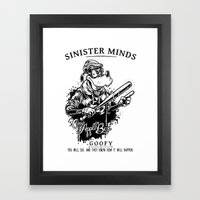 Sinister Minds. Goofy Framed Art Print