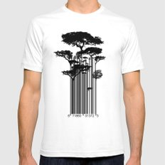 Barcode Trees Illustrati… Mens Fitted Tee White SMALL