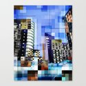 Retro City Tower Tiles Canvas Print