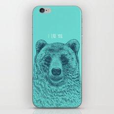 I Like You (Bear) iPhone & iPod Skin